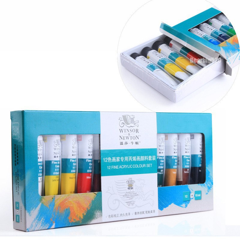 12 Colors Nail Art Acrylic Painting Pen Tips <font><b>Paint</b></font> Tube Pigment Draw Painting For Acrylic UV Gel Polish Nail