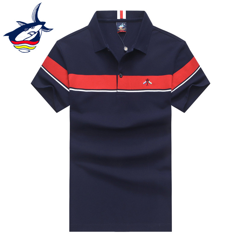 Tace & Shark brand men's   polo   shirts High quality Summer 2019 casual & business striped   polo   shirt men tee shirt homme 3XL
