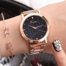 נשים שמלת שעונים רוז זהב נירוסטה Lvpai מותג אופנה גבירותיי שעוני יד Creative קוורץ שעון זול יוקרה שעונים
