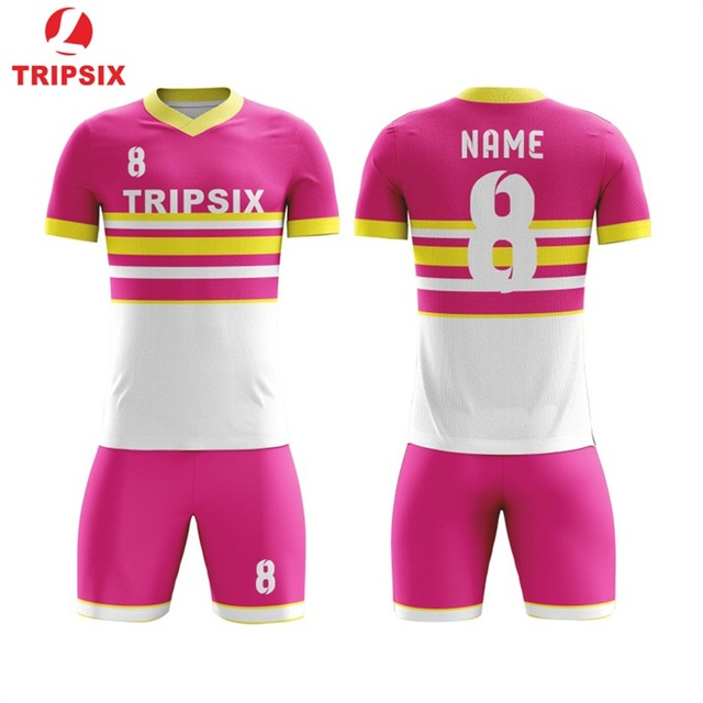 Customized Sublimation New Design Football Clothing Children Football Jerseys Men Boys Soccer Clothes Sets