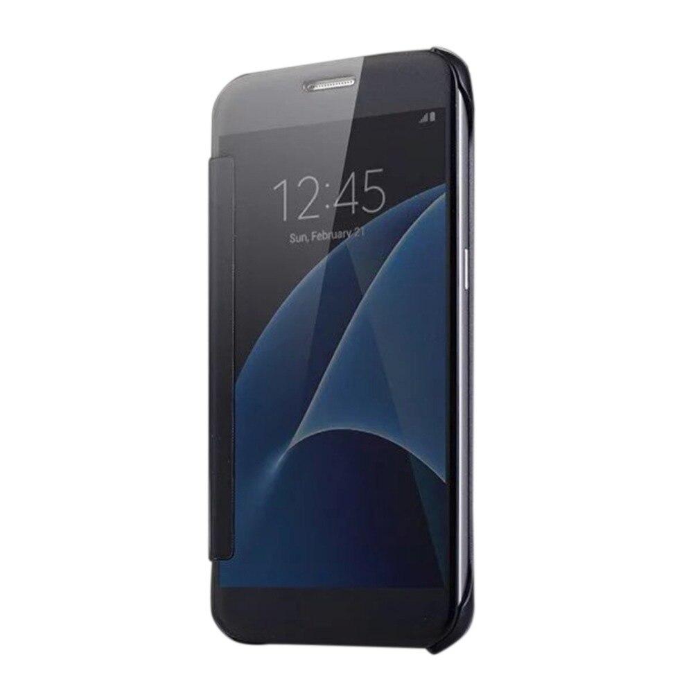 Обычный чехол для телефона Зеркало гальваническим покрытием смартфон Чехол из металла Рамки задняя крышка подходит для Samsung S7 Edge