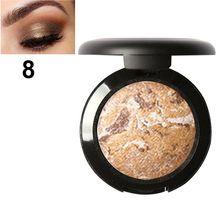 FOCALLURE Baked Eyeshadow Eye Shadow Palette Shimmer Metallic Eyes Makeup Tools KG66