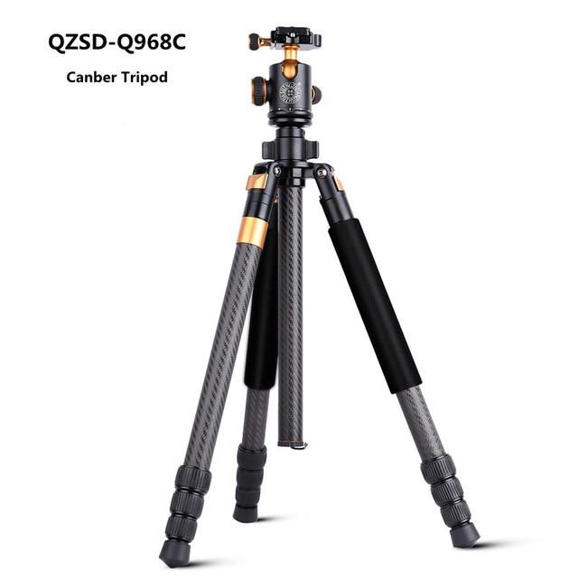 Q968C Штатив Из Углеродного Волокна DSLR Камера Штатив с Монопод и Панорамный Шаровой Головкой Ногти