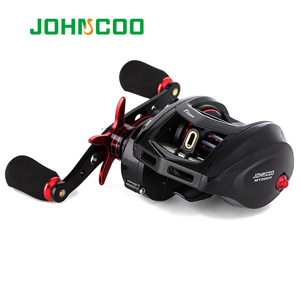 JOHNCOO Bait Casting Reel Big Game 13kg Max Drag Sea Fishing jig Reel 11+1 BB 7.1:1 Aluminium Alloy Body Jigging Fishing Reel(China)