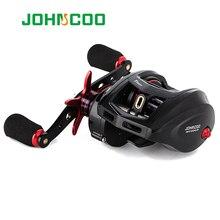 JOHNCOO Bait Casting Reel Big Game 13kg Max Drag Sea Fishing jig Reel 11+1 BB 7.1:1 Aluminium Alloy Body Jigging Fishing Reel