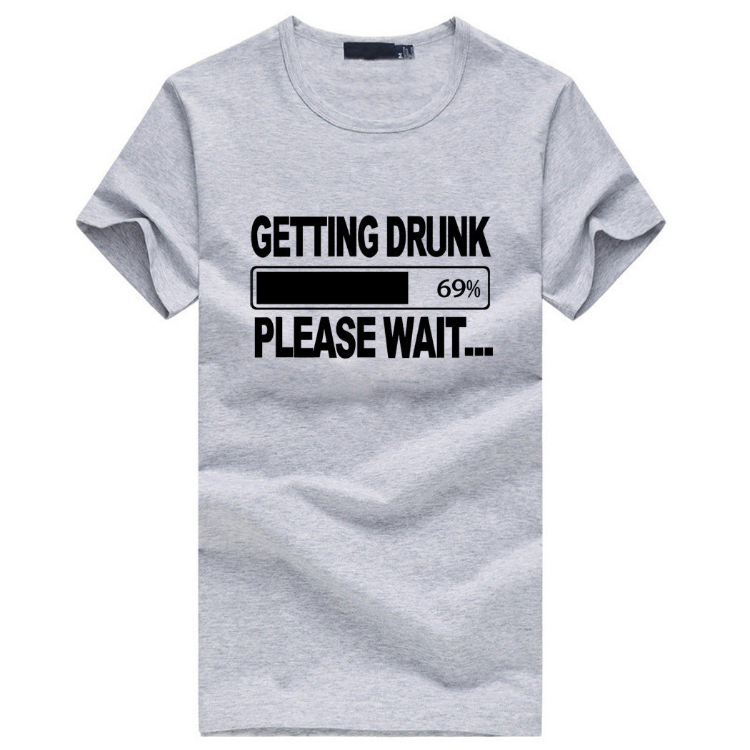 getting Drunk Beer Stag Party Gift Funny Mens t-shirt men's cotton print tops tee brand clothing drake for male summer hot sale