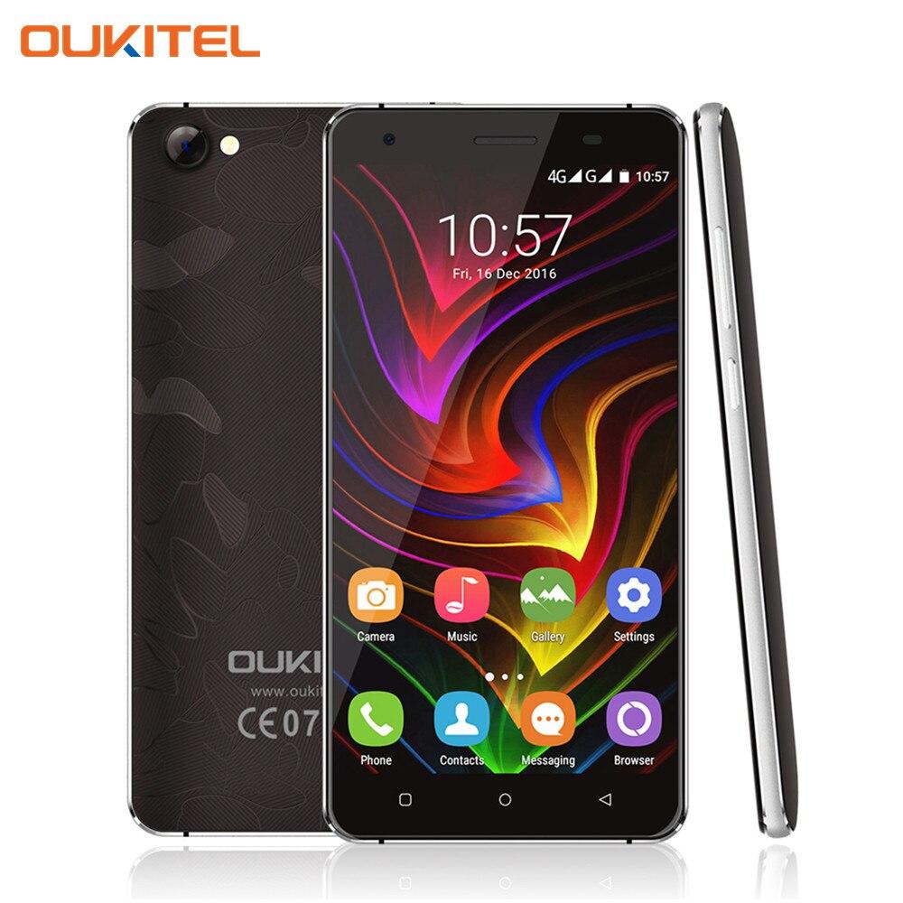 bilder für Original Oukitel C5 Pro 5,0 Zoll Smartphone Android 6.0 MTK6737 Quad-Core-Handy 2 GB/16 GB 4G LTE Metallrahmen Zelle telefon