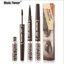 Music flower 4colors font b eye b font make up eyeliner Eyebrow Enhancers 2 in 1