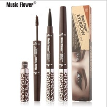 Music flower 4colors eye make-up eyeliner + Eyebrow Enhancers 2-in-1 Volume Mascara waterproof Long-lasting natural Eye cometi