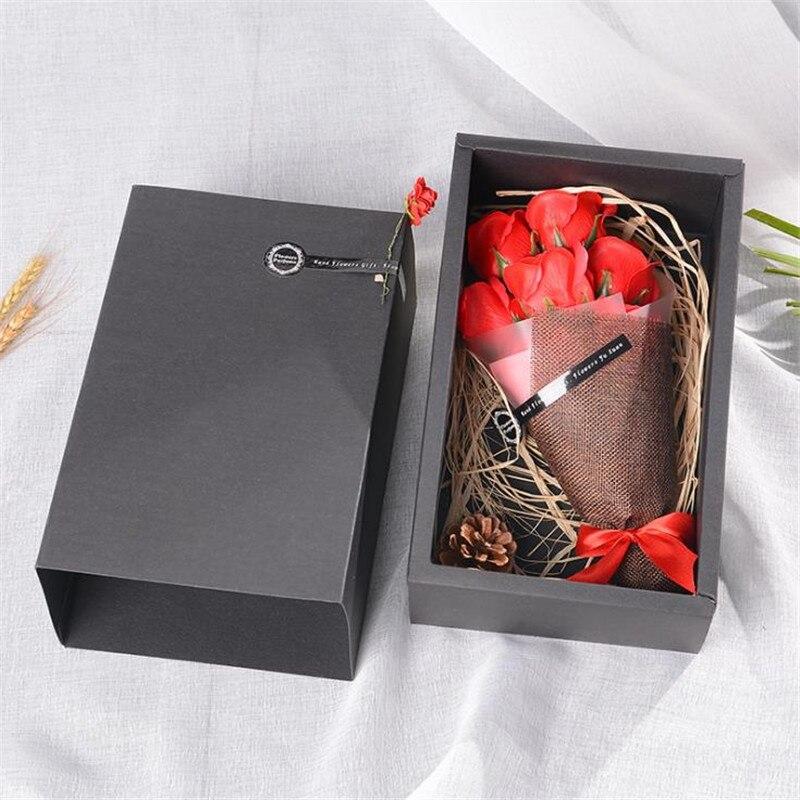7 Pcs Savon Parfume Roses Bouquet Fleur Artificielle Real Touch