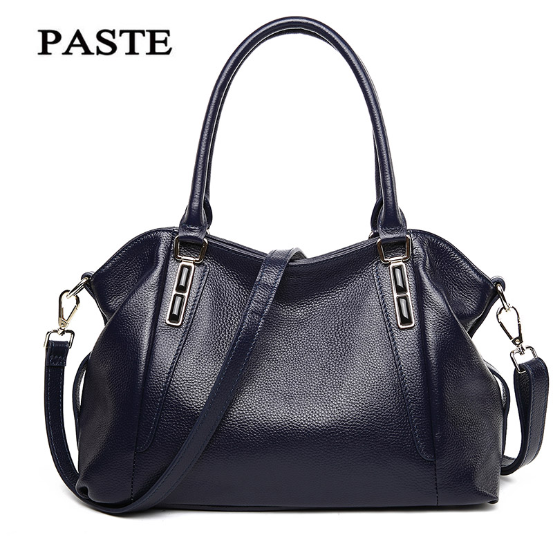 PASTE Real Cow Leather Ladies HandBags Women 100% Genuine Leather Bags Handbag Crossbody Bags For Women Shoulder Bag Bolsa Tote цена 2017