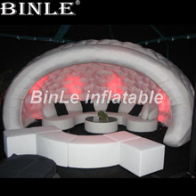 цена 2018 High quality 5m hemispherical inflatable tent portable luna wedding led dome inflatable party tent for sale в интернет-магазинах