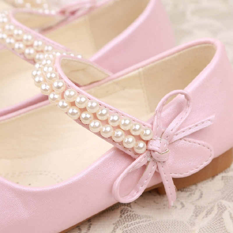 ... qloblo Kids Princess Shoes Mules Clogs Spring Beading Children Wedding  Sandals Dress Shoes Party Shoes For 529314c6ccae