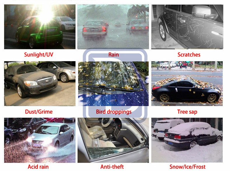 innovative products 2016 automatic electrical car cover with LED power display