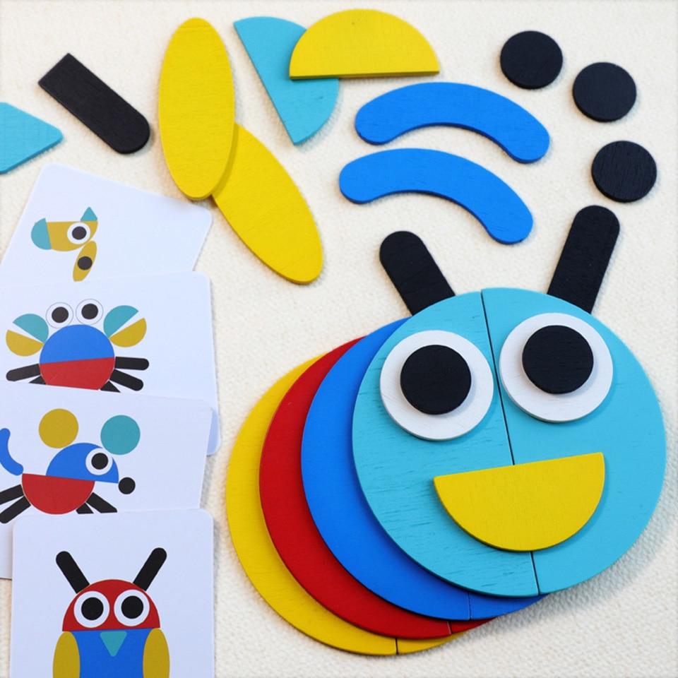 Montessori Woodentoys Puzzle jouet jeux éducatifs amusant Puzzle bébé jouets d'apprentissage précoce développer l'intelligence des enfants