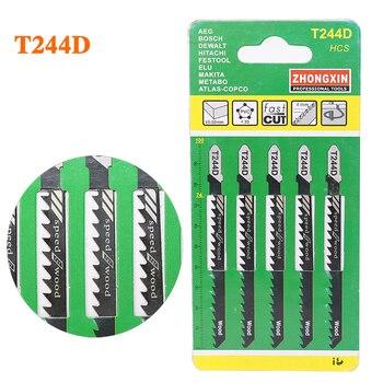 5pcs/set Jig Saw Blades Steel Hacksaw Jig Saw Blade Sets Cutting Tool For Wood Sheet Panels Cheap Price cutting tool