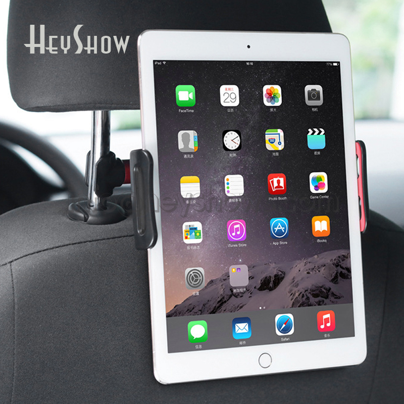 Universal Alloy Tablet Car Holder Adjustable Phone Automobile Back Seat Stand Braket For 4-11 inch phone tablet iPhone Ipad car rear pillow phone holder tablet car stand seat rear headrest mounting bracket for iphone x8 ipad mini tablet 4 11 inch