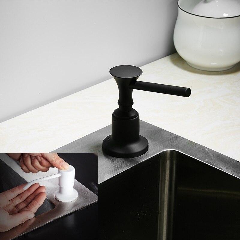 Weiß Schwarz Seife Lotion Dispenser Waschen Up Liquid Dispenser Pumpe Action Arbeitsplatte KÜche Waschbecken Becken Ausreichende Versorgung Hardware