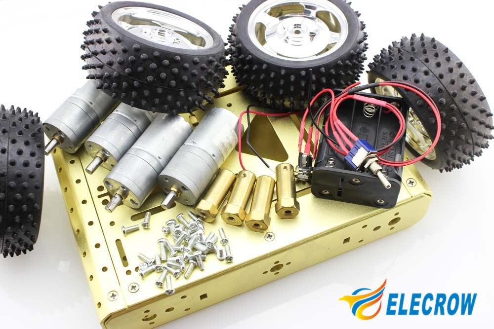 Электрический робот высокого качества умный Хищник 4WD металлическая Мобильная платформа DIY автомобильные наборы электронный автоматический DIY комплект - 6