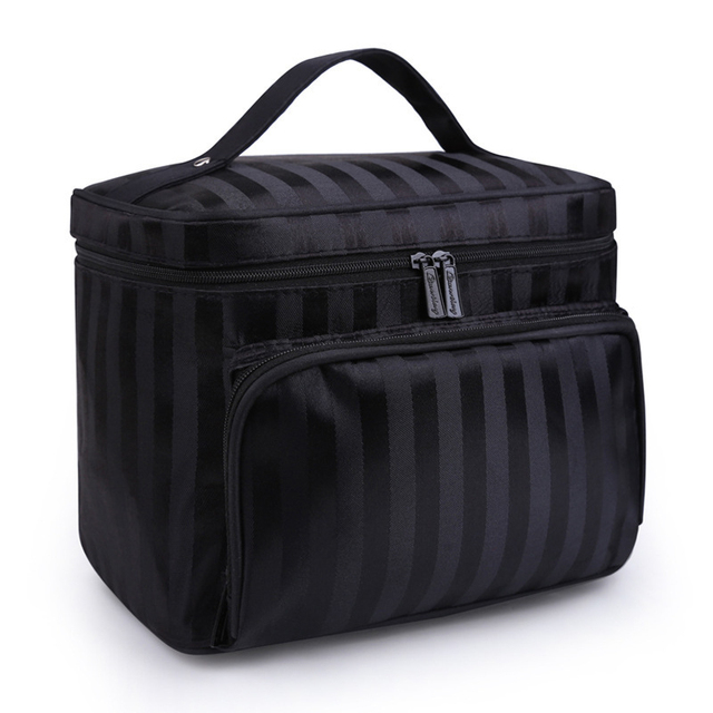f1039e94c875 PURPORED Women Striped Cosmetic Bag Large Capacity Travel Toiletry Bag  Solid Plaid Women Make Up Bag