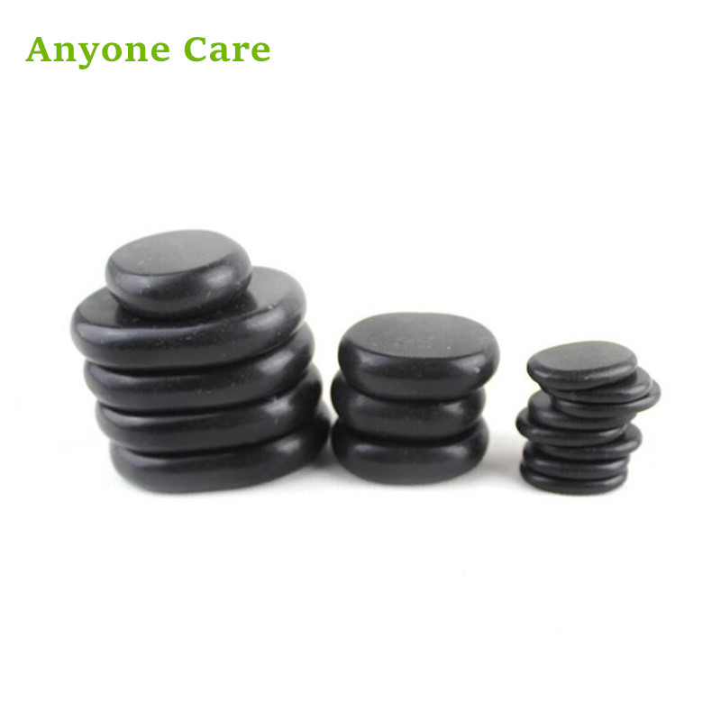 16pcs/set High quality Basalt Stone Different Size SPA Energy Stone Health Hot massage stones 1pcs massage stones 80 60 16mm natural energy stone set hot spa rocks basalt stone therapy stone pain relief health care tool