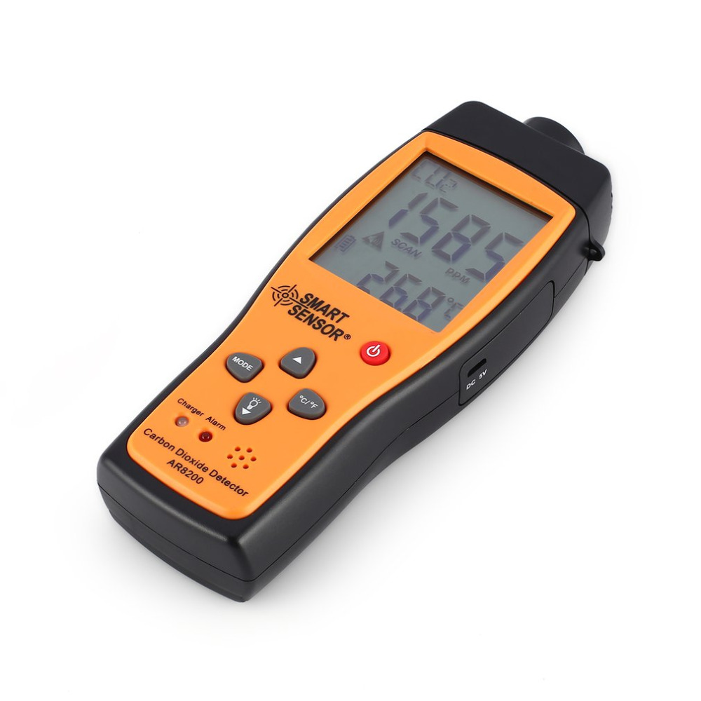 Smart Sensor AR8200 CO2 Carbon Dioxide Air Quality Monitor Analyzer Temp Temperature Thermometer Tester Gas Detector Meter Sale high sensitivity carbon dioxide sensor mg811 co2 carbon gas concentration sensor hot sale