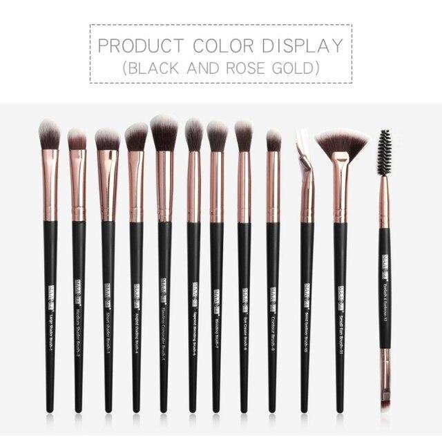 1 Set EyeMakeup Brushes Set Eyeshadow Brush Eyebrow Comb Brush  Eyelash Bevel Eyeliner Smudge Brush Kit 3