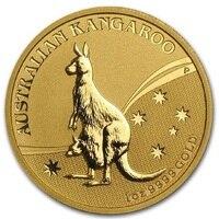 2009 Australia kangaroo 1 troy Oz. coin plated 1.5 grams .999 fine gold