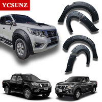 9 Inch fender flare For Nissan Navara Frontier 2015 2018 Mudguard Pocket Rivet Style offroad accessories for Nissan NP300 Ycsunz