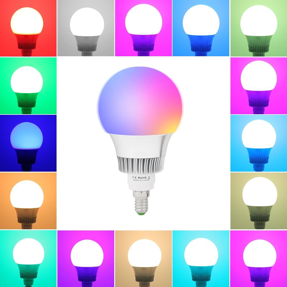 5PCS/LOT E27 E14 LED 12 Color Changing RGB Magic Light Bulb Lamp 85-265V 10W RGB Led Light Spotlight + Remote Control e27 led rgb magic lamp lamp 6w ac85 265v 220v rgb led light spotlight ir afstandsbediening controle and white white