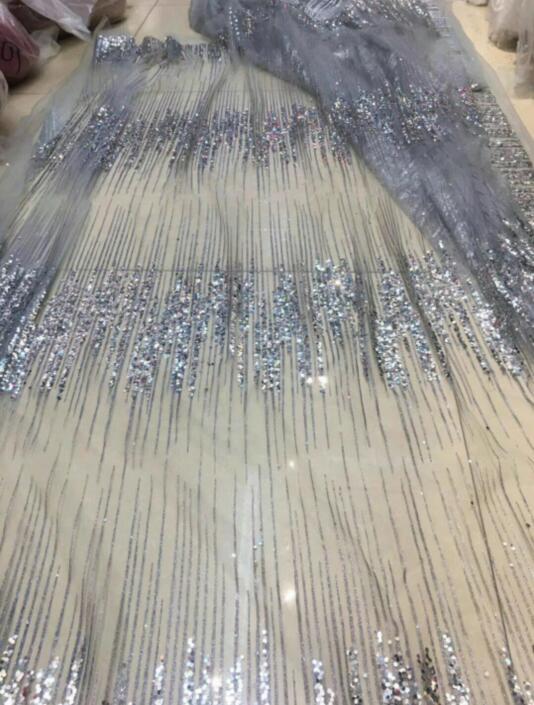 Más Sat 10.512 tul Africana tela de malla brillante pegado brillo lentejuelas encaje tela para vestido de fiesta-in encaje from Hogar y Mascotas    3