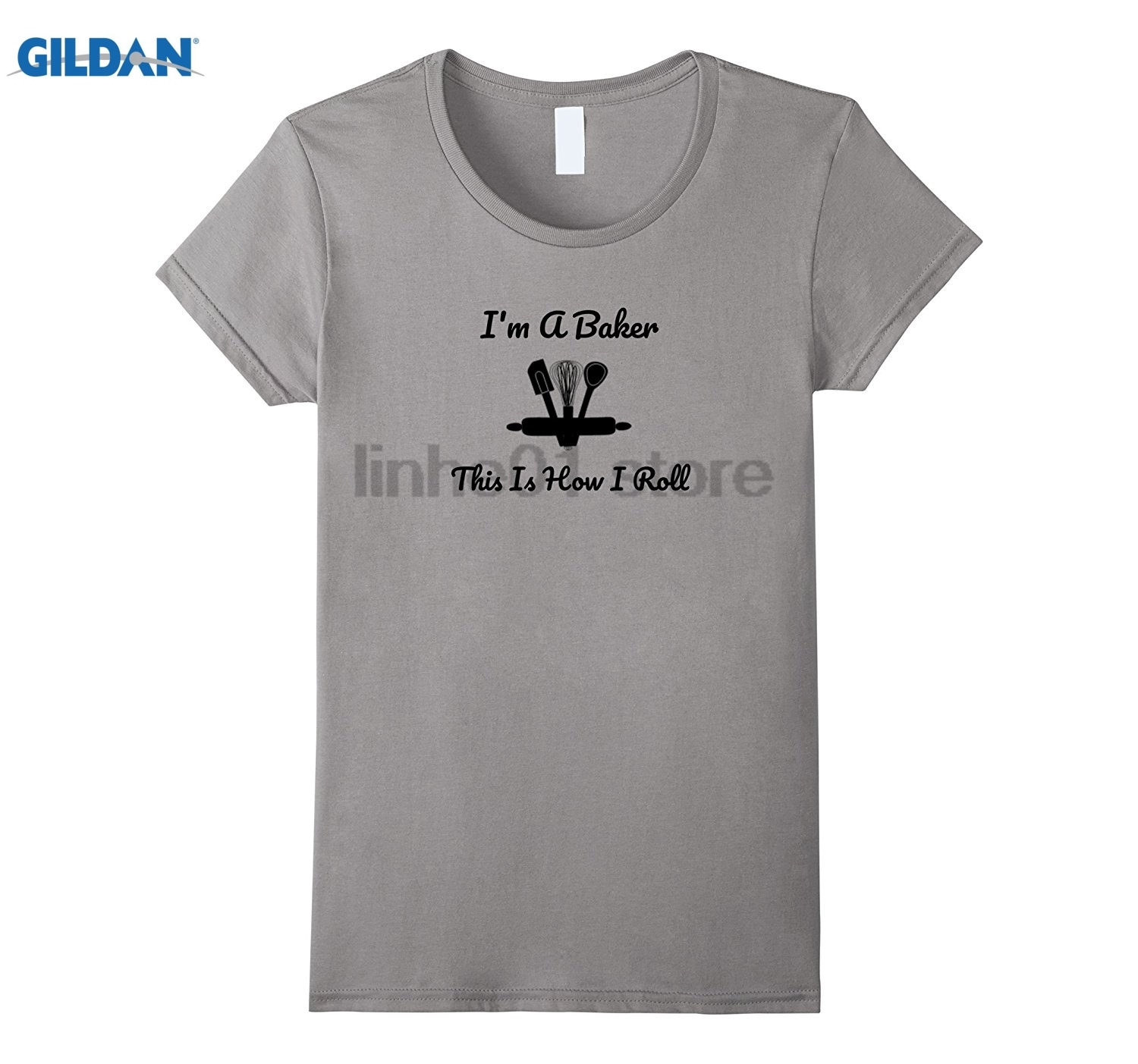 GILDAN Im a Baker and This is How I Roll Womens T-shirt