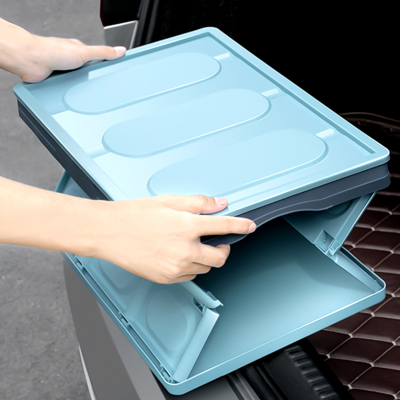 E FOUR Large Storage Box in Car Water Ice Keeper Green PP Material Heavy Loading Use for Office Out Door Car Inner Fishing Stows in Stowing Tidying from Automobiles Motorcycles