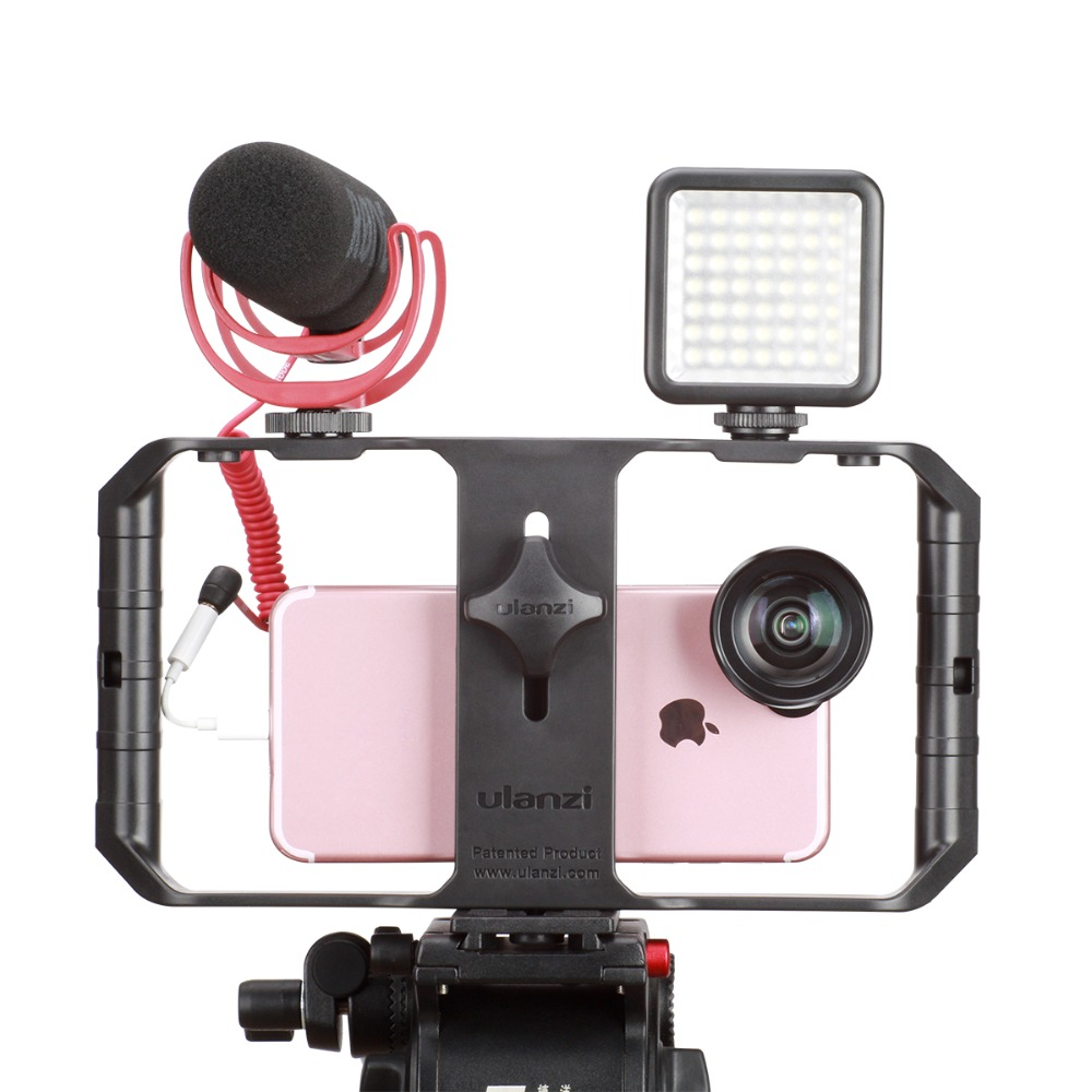Ulanzi New U Rig Pro Video Kit Smartphone Video Gear Setup Handheld Rig Microphone LED Lamp