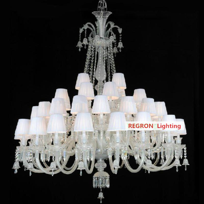 Ceiling Lights & Fans Lights & Lighting Motivated Ballroom 24-44 Pcs Vast Lustres De Cristal Lamp French Large Great Crystal Chandelier For Living Room Restaurant Hotel Lighting 100% High Quality Materials