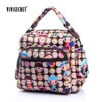ViViSECRET Impression Diaper Bag Organisateur Maman Nappy Sacs Voyage Shopping Lactation Bébé Sac Étanche anne bebek Poussette Sacs