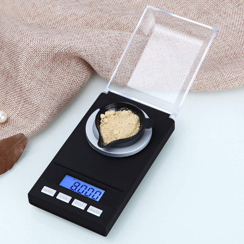 High Precision 50g 0.001g Laboratory Balance Digital Jewelry Diamond Scales Mini Lab Herbs Gold Weight Milligram Scale 0.001 newacalox 50g 0 001g portable mini jewelry scales lab weight high precision scale medicinal use lcd digital electronic balance