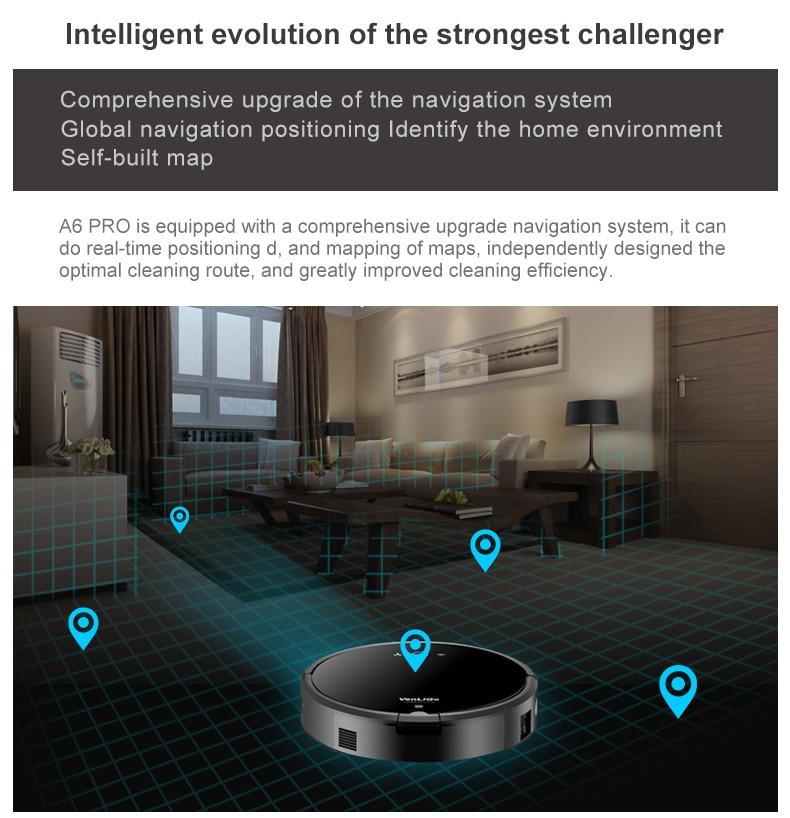 Смарт-план Тип робот пылесос с Wi-Fi A6 сухого и мокрого робот пылесос для дома