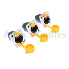 3Pcs RJ45 waterproof sockets connector IP65 Ethernet panel mount RJ45 connector
