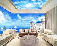 Beibehang Advanced Creative Dream Seductive Waterproof Wallpaper Marine Theme Space Background Wall Papel De Parede 3d