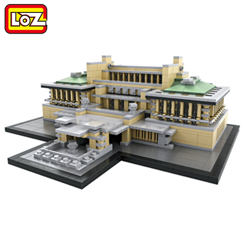 LOZ Imperial Hotel Mini Blocks World Famous Architecture Model Toy Imperial Hotel Assemblage Model Ages 14+ 2017 loz mini diamond building block world famous places architecture 3d russia saint basil s cathedral model nanoblock for kid