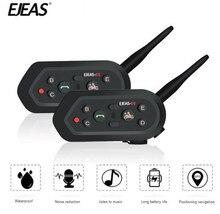 EJEAS 2PCS Helmet Headset Motorcycle Intercom Bluetooth Interphone Moto For 6 Riders