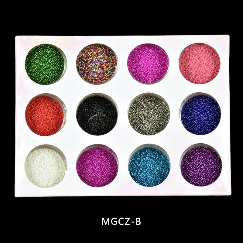 MGCZ014 12 ollas 12 colorido Caviar manicuras pedicuras belleza ...