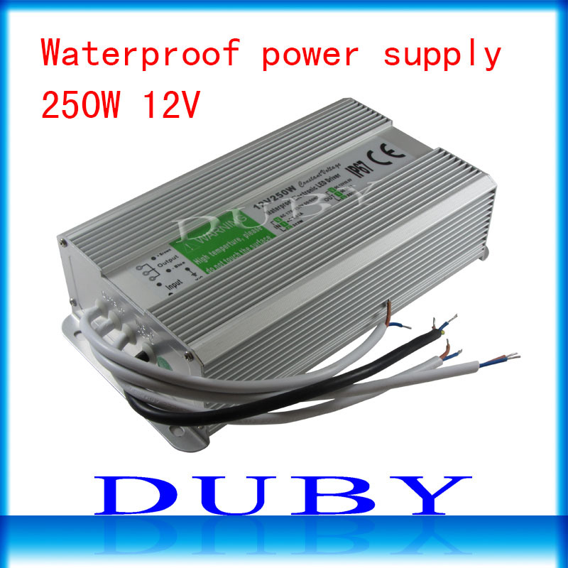 IP67 12V 20.8A 250W AC100-240V Input Electronic Waterproof Led Power Supply/ Led Adapter 12V 250W free FedexIP67 12V 20.8A 250W AC100-240V Input Electronic Waterproof Led Power Supply/ Led Adapter 12V 250W free Fedex