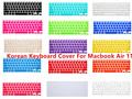 """Korean Language Keyboard Cover Protector Silicone Skin Protective Film For Apple MacBook Air 11"""" 11.6 Inch A1465/1370 US layout"""