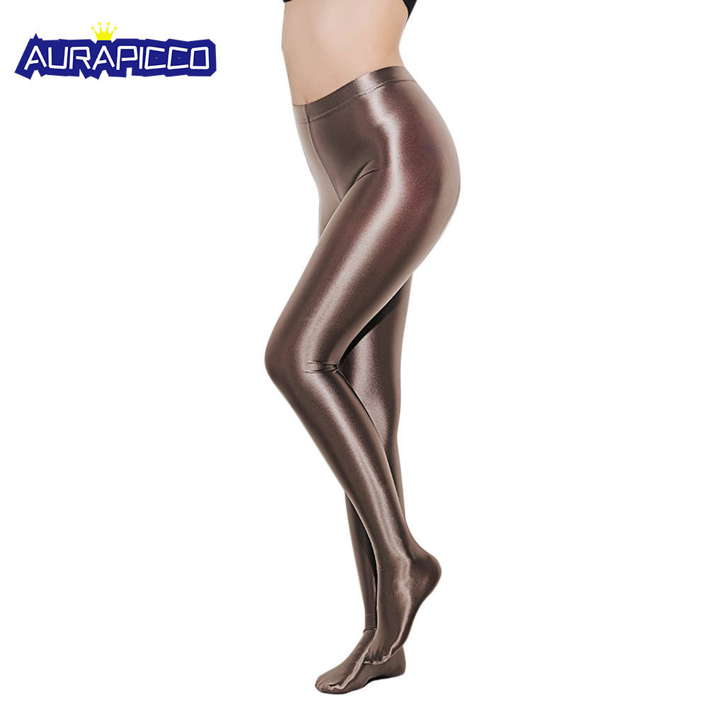 Sexy Women Shiny Metallic Wet Look Liquid Pantyhose High Quality Backseam Stretch Tights Leggings Night Out Clubwear Dress-Up