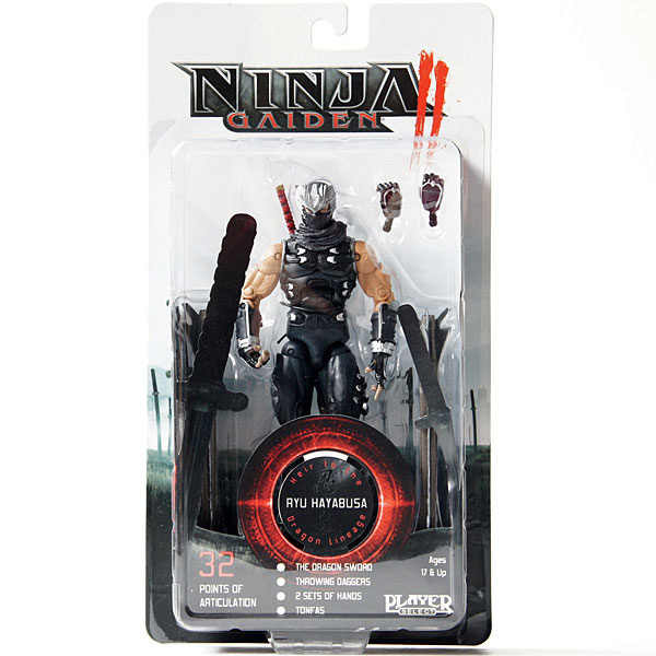 "Frete Grátis Gaiden II Ryu Hayabusa Neca Player Select Action Figure New in Box 7 ""18 cm"