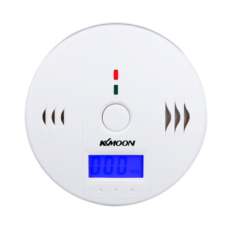 LCD CO Carbon Monoxide Poisoning Security Alarm Sensor Monitor Alarm Detector White