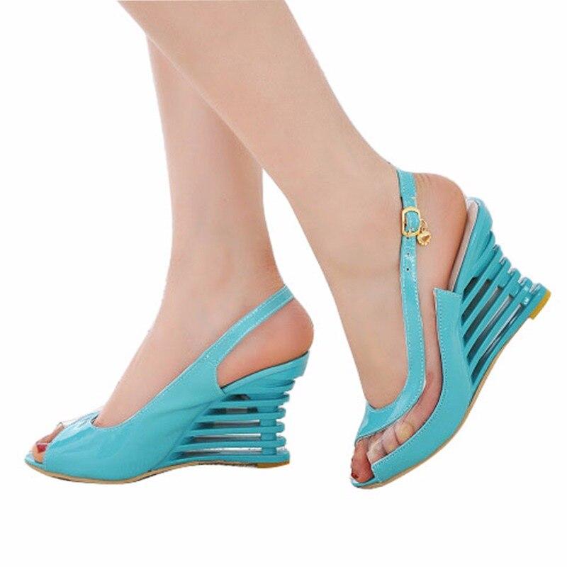Taoffen 2019 Novas Sandálias Fivela Sandálias de Dedo Aberto Das Mulheres  Do Salto Alto Sapatos de 685c8f596206