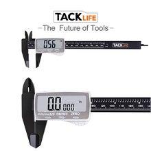 TACKLIFE цифровой измерительный штангенциркуль 6 дюймов 150 мм штангенциркуль с большим ЖК-дисплеем микрометр измерительный инструмент DC01
